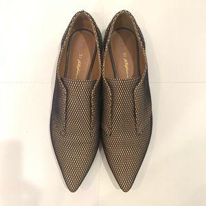 3.1 PHILLIP LIM Satin Fishnet Loafers Sz 40